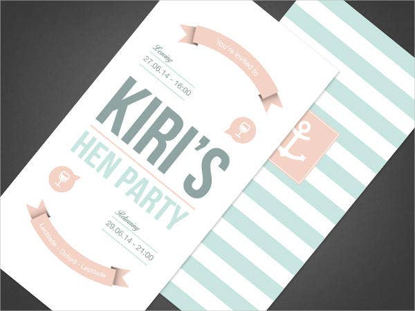 free printable hen party invitation