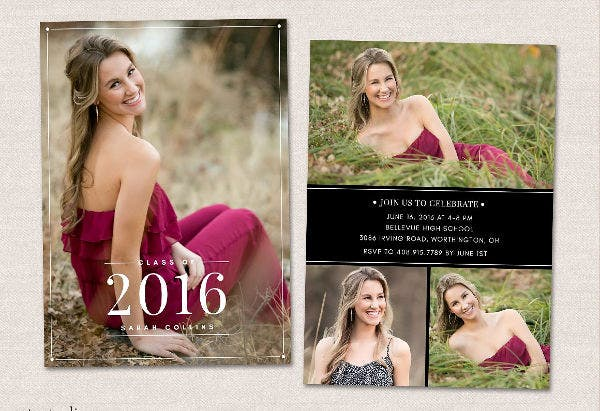 Senior Graduation Photo Invitation