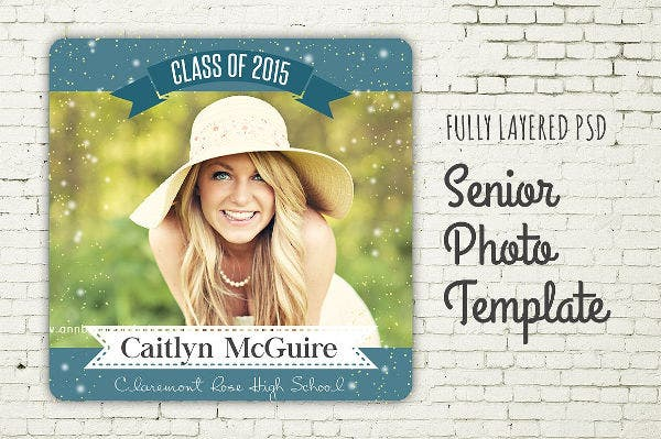 Graduation Photo PSD Template