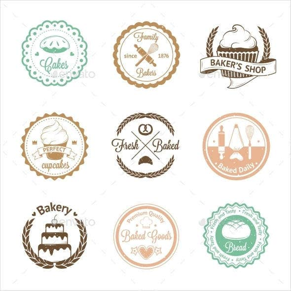 vintage bakery product label template1