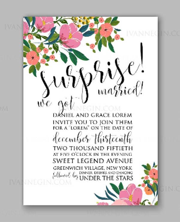 wedding photo party invitation