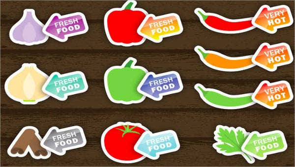 food product label templates