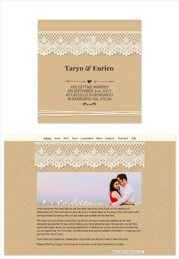 free wedding email invitation template
