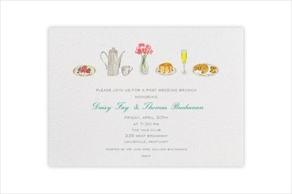Wedding Brunch Email Invitation Template