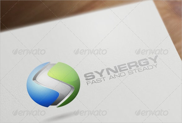 3d corporate business logo