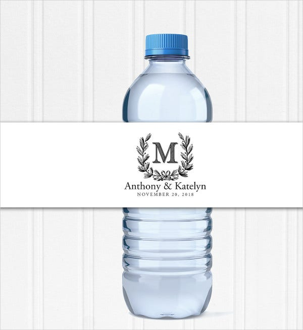 Wedding Water Bottle Label