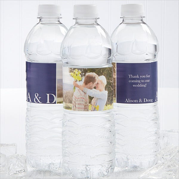 personalized water bottle label template
