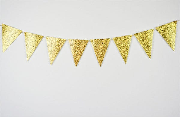 gold glitter bridal shower party banner