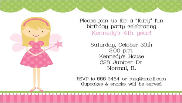 9 princess party invitations