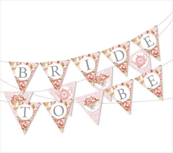 diy bridal shower party banner