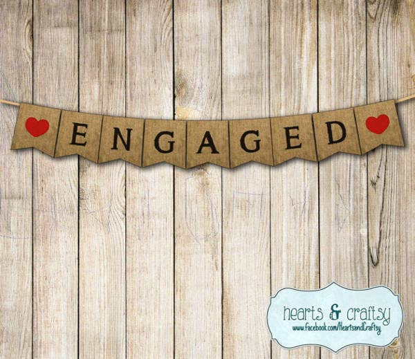 7+ Engagement Party Banners - Design, Templates | Free & Premium ...