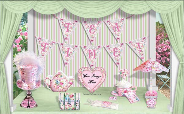 bridal shower tea party banner1