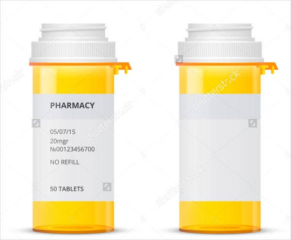 9 Pill Bottle Label Templates Design Free Premium