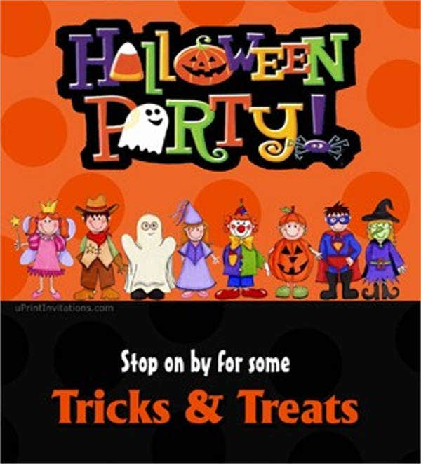 childrens halloween party invitation