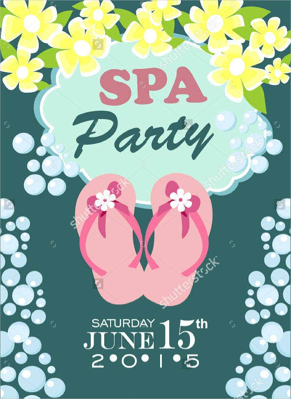 Spa Sleepover Party Invitation