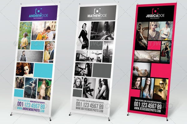 Media Advertising Pull Up Banner