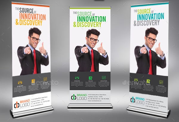corporate advertising pull up banner