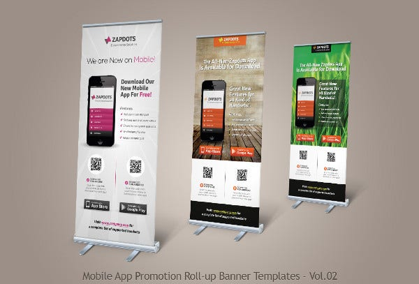 Advertising Pull Up Marketing Banner
