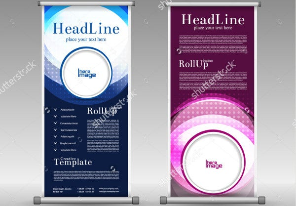 abstract advertising pull up banner