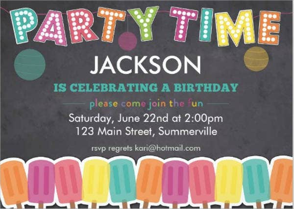 childrens birthday party invitation