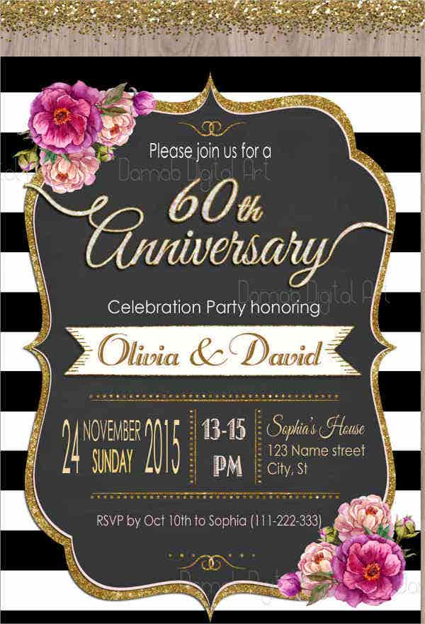 60th-anniversary-party-invitation