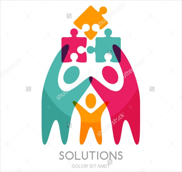 abstract business management logo