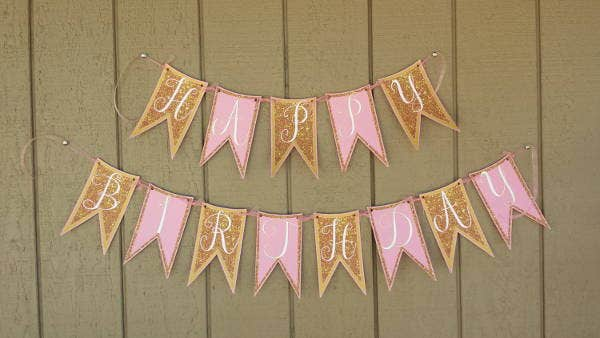 Diy Home Party Banner