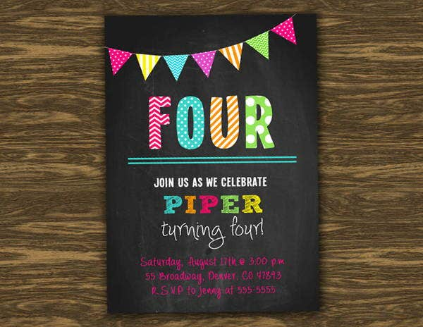 7+ Chalkboard Invitation Banners - Designs, Templates | Free