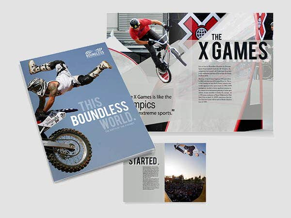corporate sports event brochure