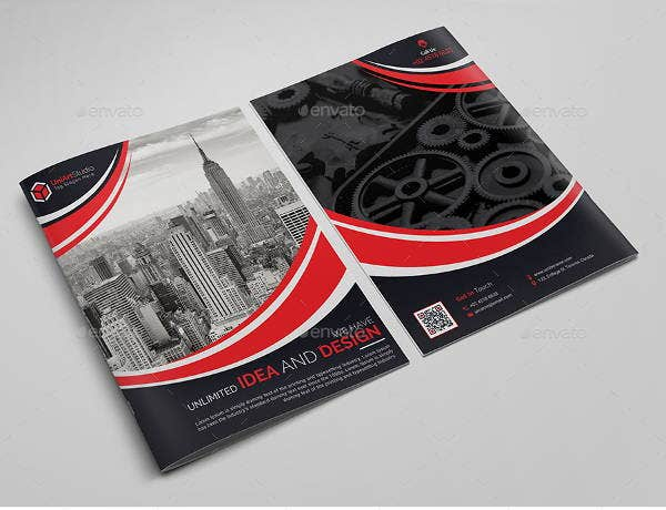 corporate event bifold brochure