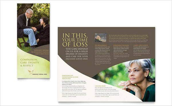 funeral corporate event brochure