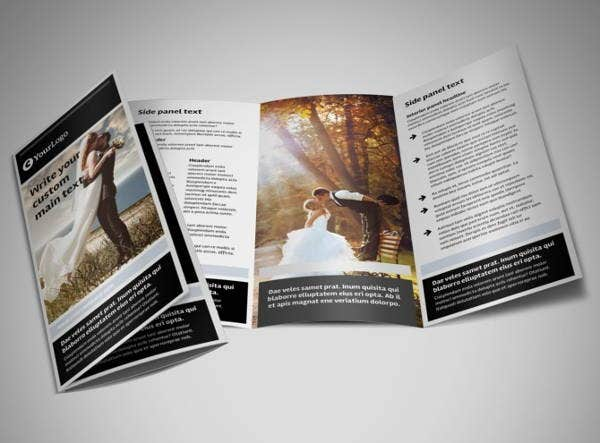 wedding corporate event brochure