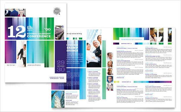 corporate conference event brochure