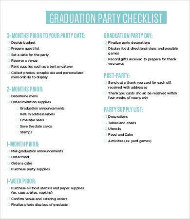 Party checklist templates 11 free word pdf documents download graduation party checklist template maxwellsz