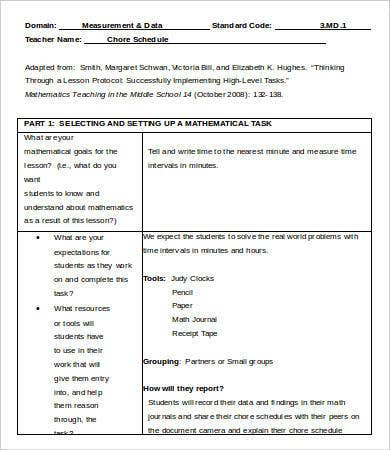 Chore Schedule Task Template