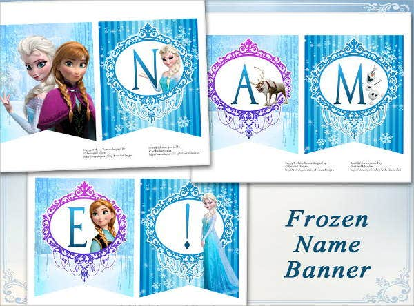 disney-frozen-party-name-banner