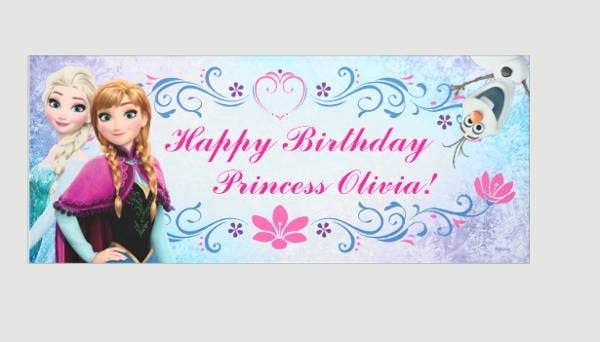 personalized-frozen-party-banner