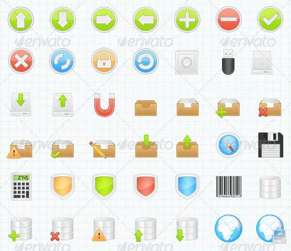 business-application-vector-icons-set