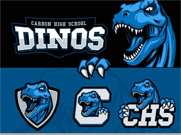 dino sports team logo