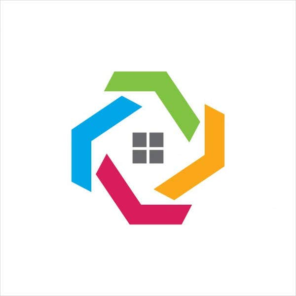 abstract real estate team logo