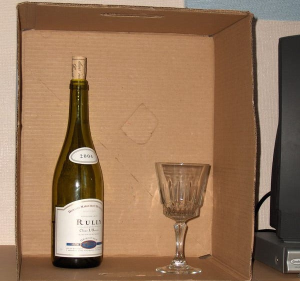 wine glass box packaging template