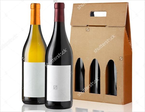 Wine Cardboard Box Packaging Template