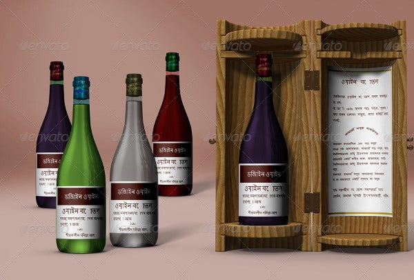 Wine Bottle Display Box Packaging