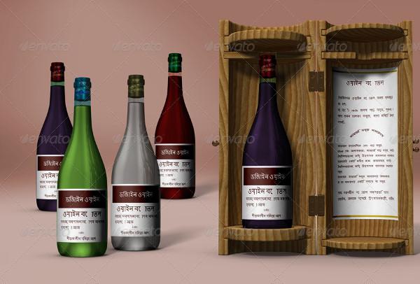 Wine Bottle Display Box Packaging