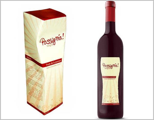 Free Wine Box Packaging Template