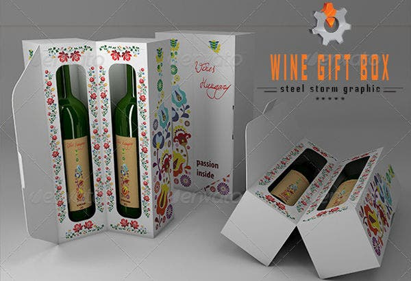 3d wine gift box packaging