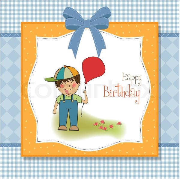 boy birthday greeting card