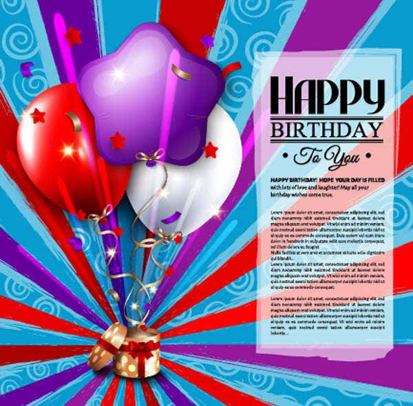 Birthday Email Greeting Card