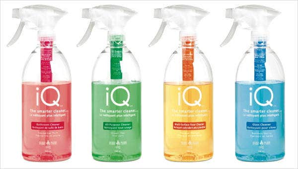9 cleaning product packagings