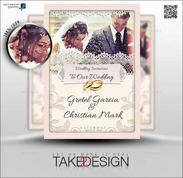 8 Wedding ThankYou Cards Design Templates – Wedding Thank You Card Sample